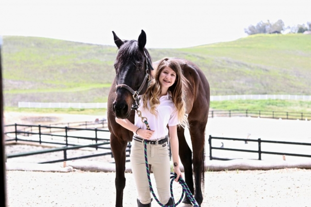 Girl and horse Kerrit's brand clothing